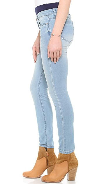 Blank Denim Faded Skinny Jeans
