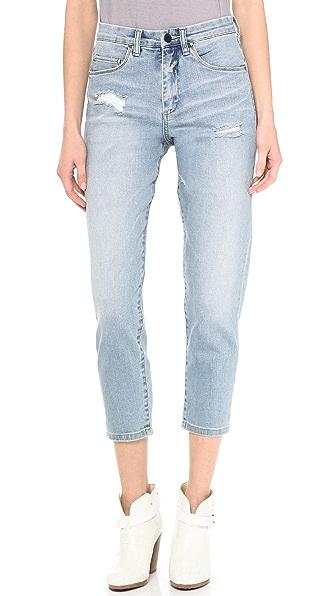 Blank Denim Rolled Boyfriend Jeans