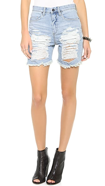 Blank Denim Distressed Boyfriend Shorts