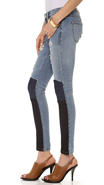 Blank Denim Colorblock Skinny Jeans