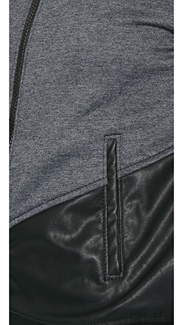 Blank Denim Colorblock Bomber Jacket