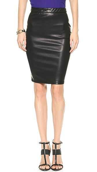 Blank Denim Vegan Leather Pencil Skirt