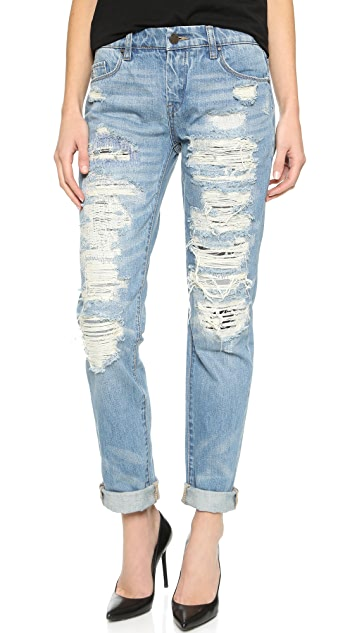 Blank Denim Distressed Boyfriend Jeans