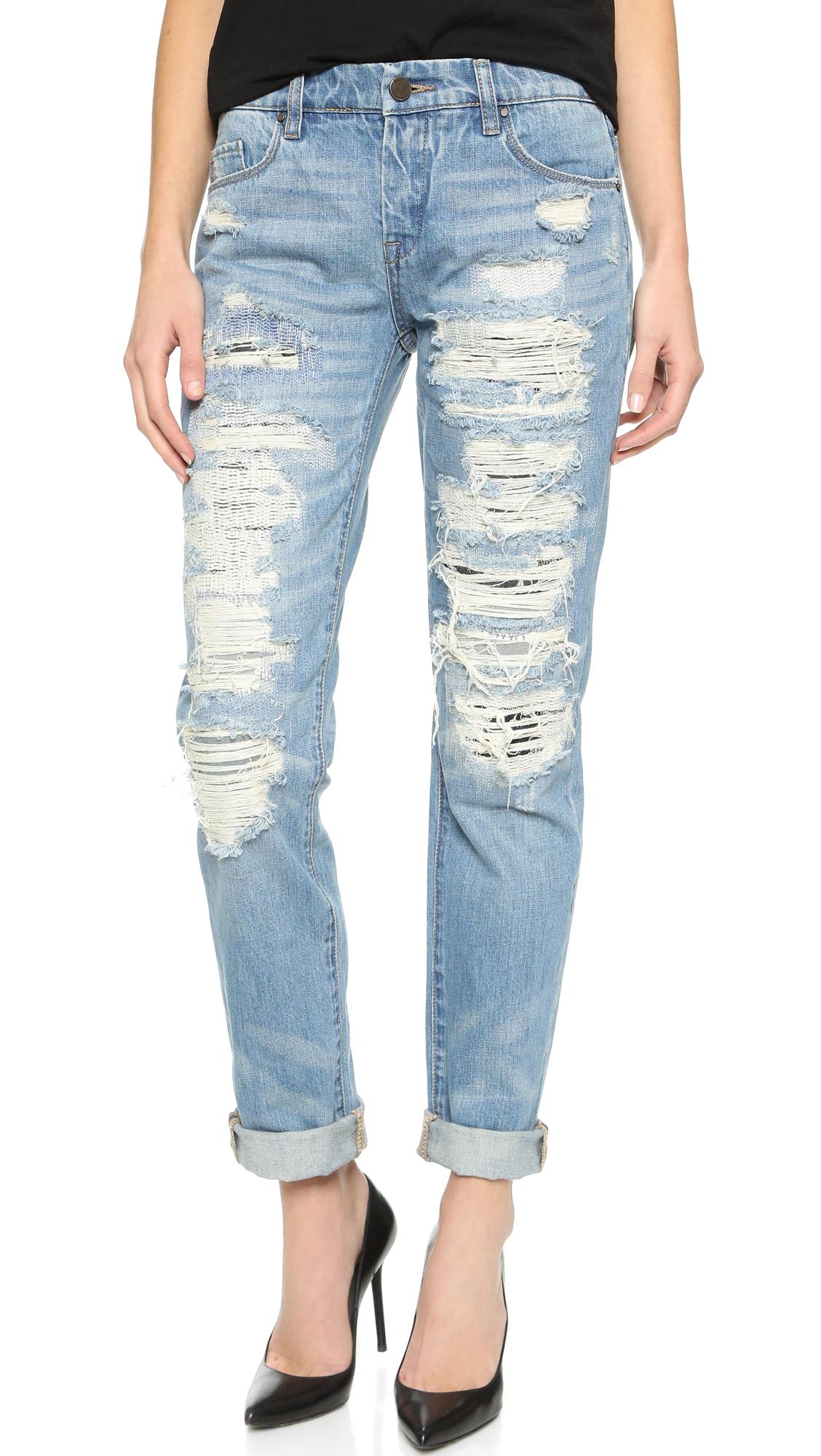 Blank Denim Distressed Boyfriend Jeans | 15% off first app ...