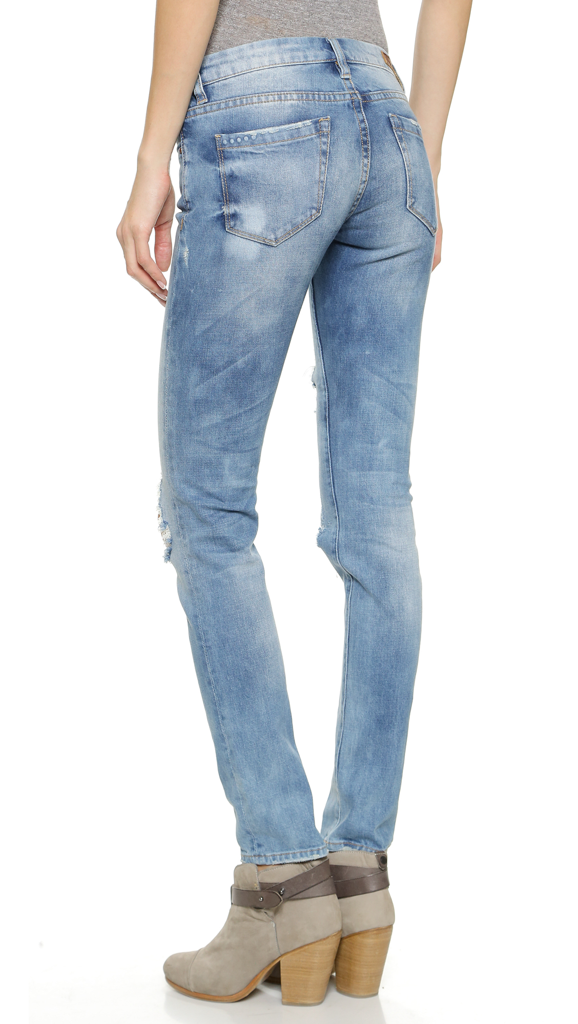 Blank Denim Distressed Skinny Jeans | 15% off first app purchase ...