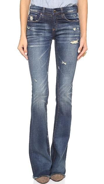Blank Denim Distressed Flare Jeans