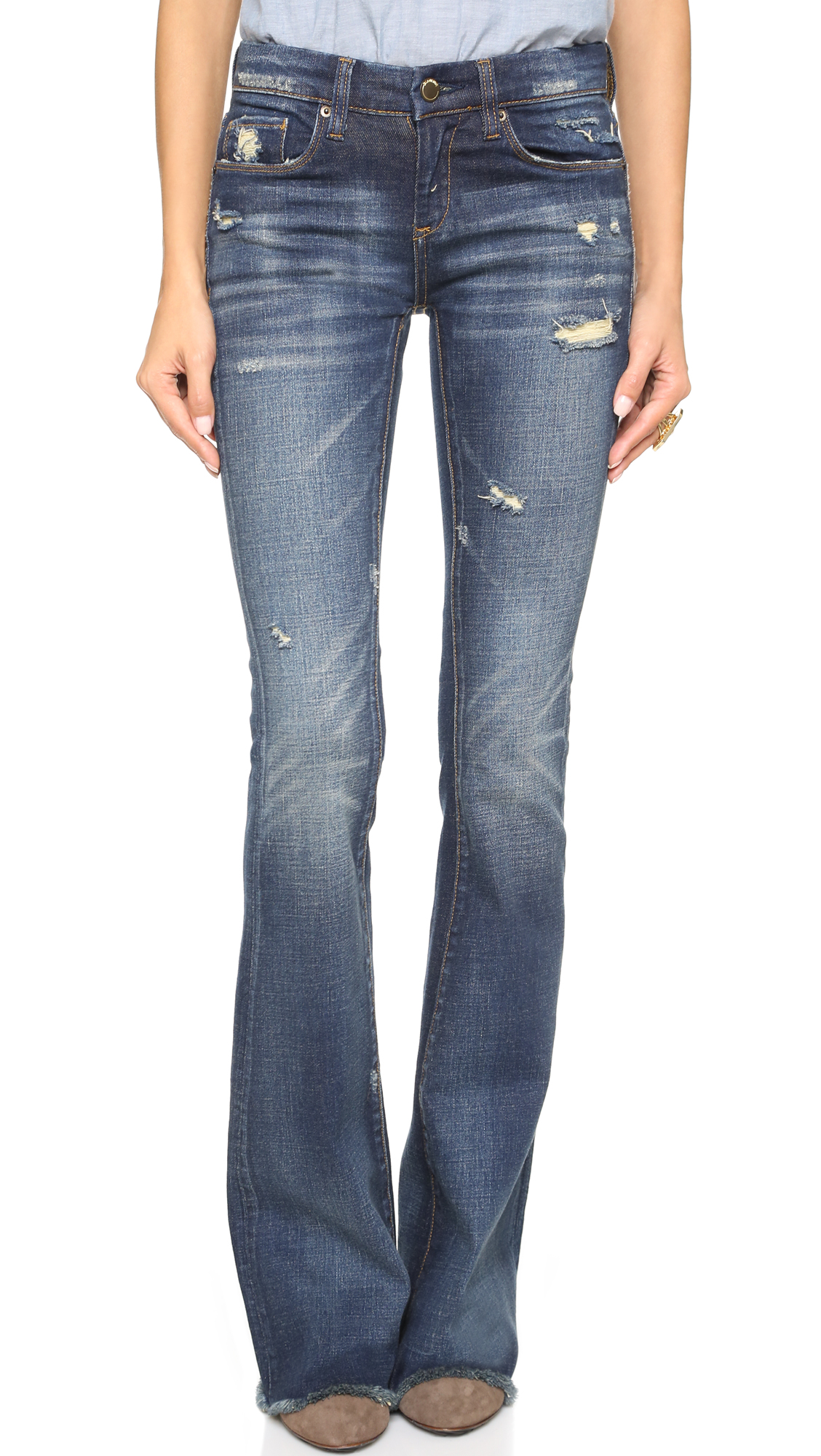 Blank Denim Distressed Flare Jeans | SHOPBOP Extra 25% Off Sale ...