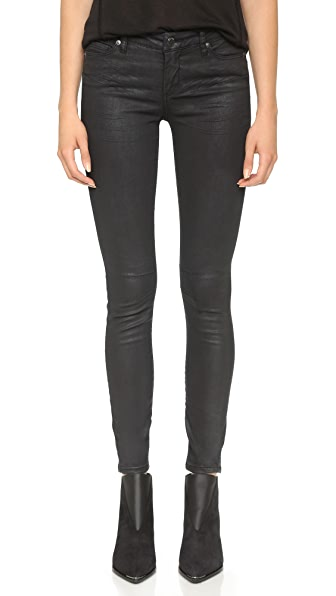 Blank Denim Coated Skinny Jeans - Follow Me