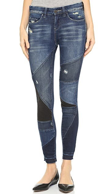 Blank Denim Patchwork Distressed Jeans