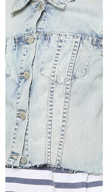 Blank Denim Cropped Jean Jacket
