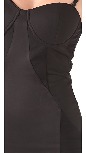 Blaque Label Sleeveless Dress with Mesh Inserts