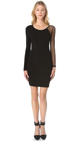 Blaque Label Fishnet Sleeve Dress