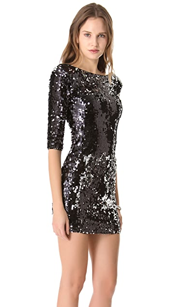 Blaque Label Scoop Back Sequin Dress