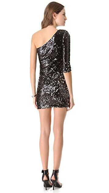 Blaque Label One Shoulder Sequin Dress
