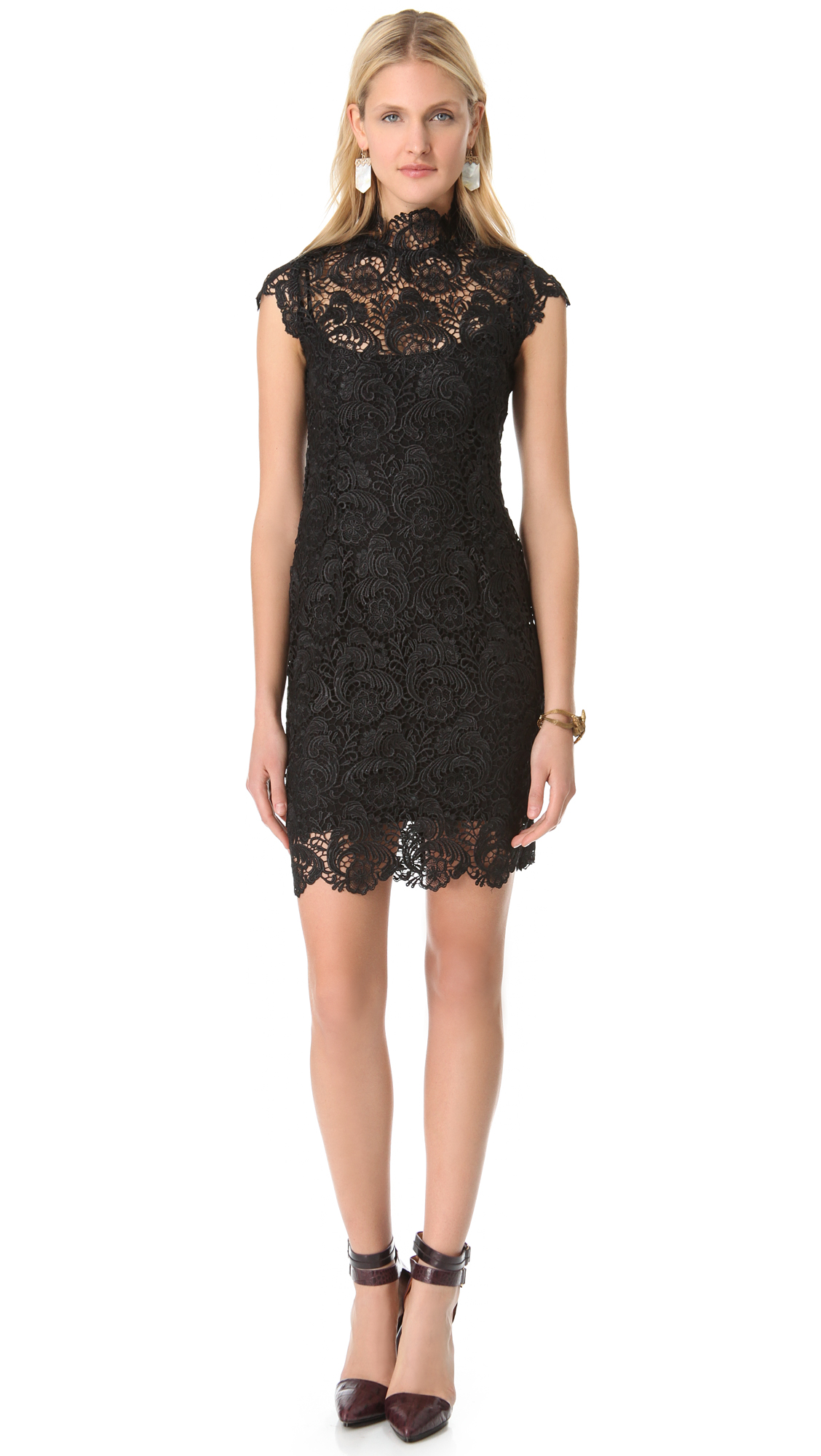 Blaque Label Lace Short Sleeve Dress   SHOPBOP