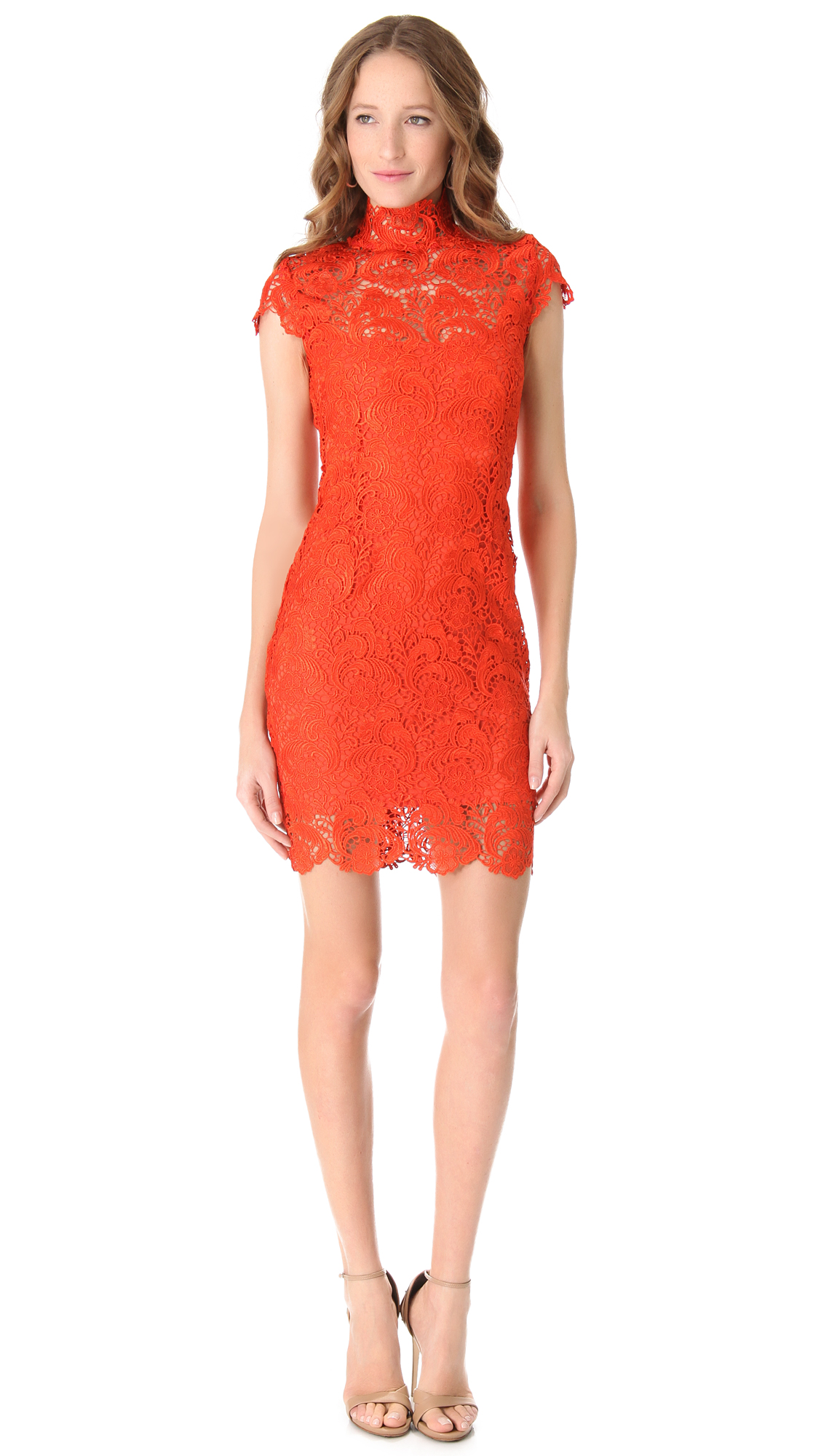 ff6bbdcccbb Red Lace Short Sleeve Dress - Data Dynamic AG