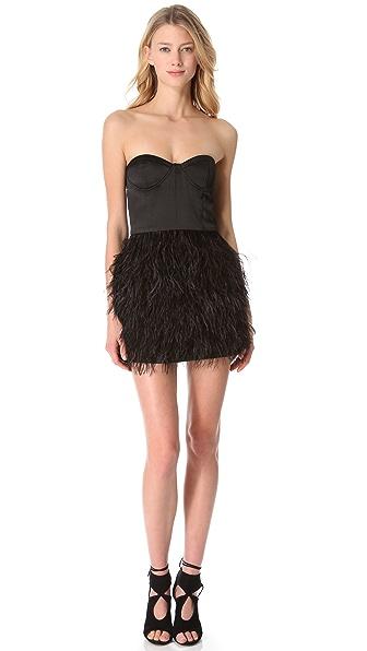 Blaque Label Feather Party Dress
