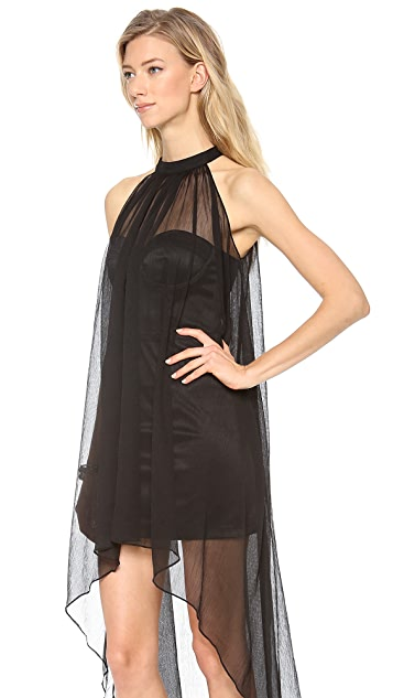 Blaque Label Sleeveless Halter Dress