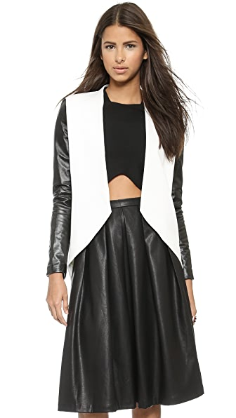 Blaque Label Leather Sleeve Jacket