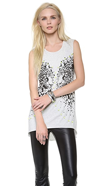 Bless'ed are the Meek Mirror Leopard Tee