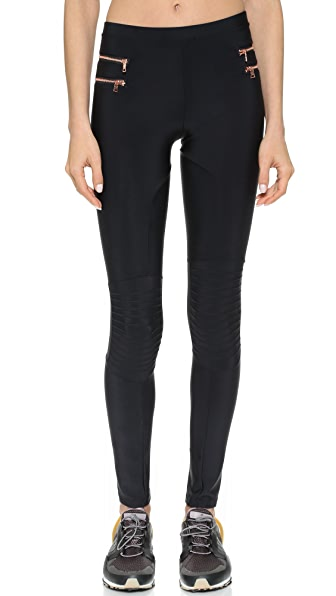 Blue Life Fit Zipper Moto Leggings | SHOPBOP