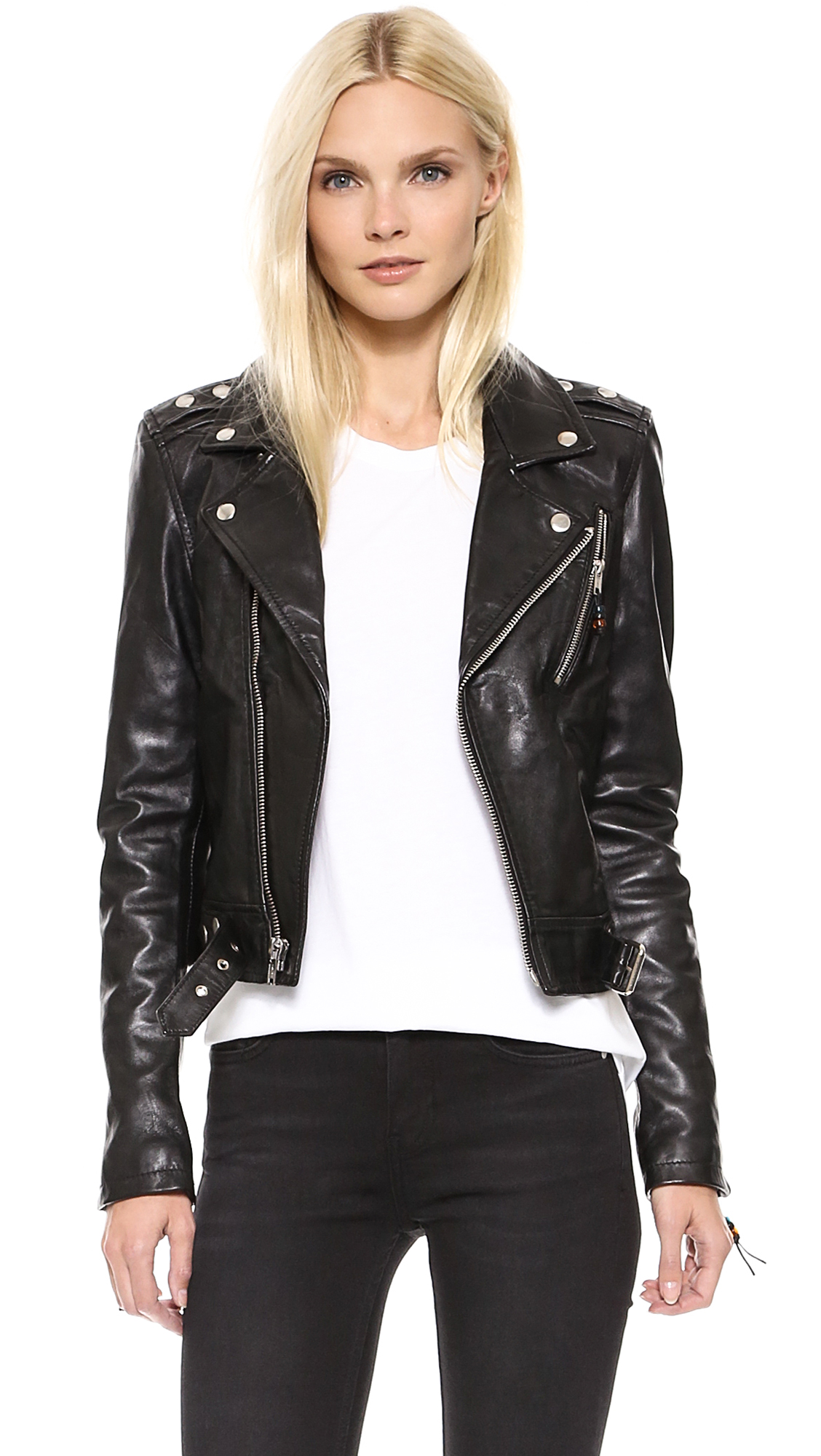 Leather jacket women - Blk Dnm Leather Jacket 1 15 Off First App Purchase With Code 15foryou