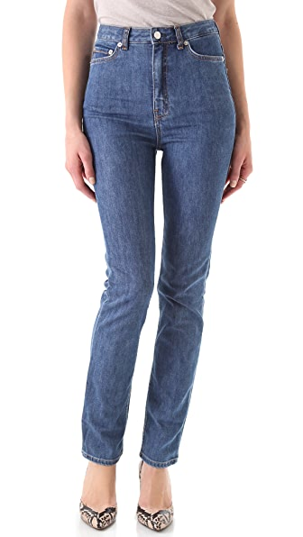 BLK DNM High Waisted Straight Leg Jeans 6