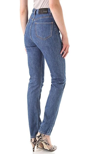 BLK DNM High Waisted Straight Leg Jeans 6