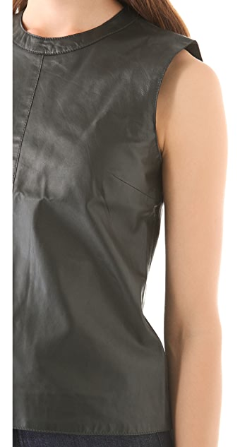 BLK DNM Sleeveless Leather Top