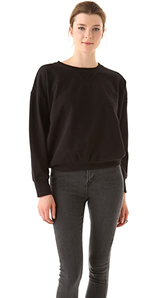 BLK DNM Oversized Sweatshirt with Dropped Shoulder