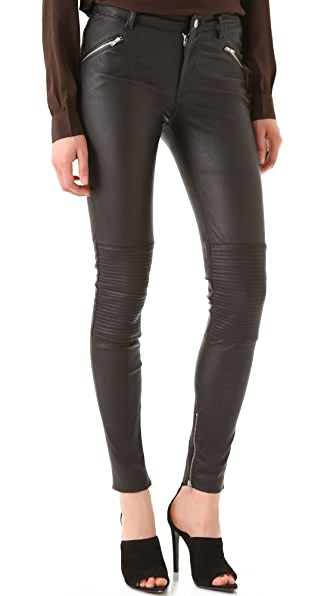 BLK DNM Stretch Leather Biker Pants