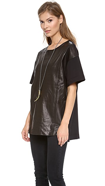BLK DNM Leather T-Shirt 24