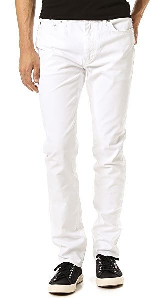 BLK DNM Slim Fit Resin Coated Jeans 5