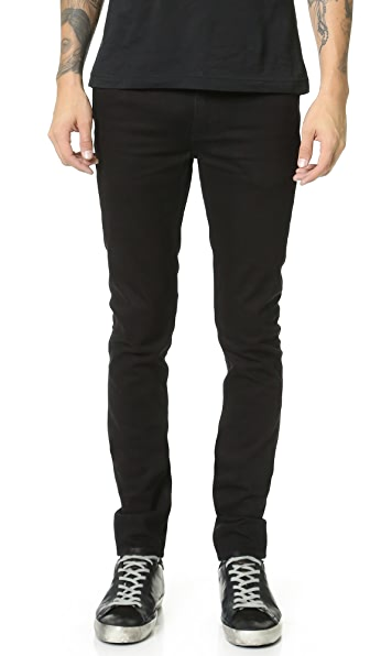 BLK DNM Skinny Fit Raw Jeans 25