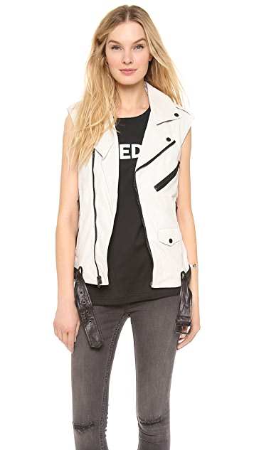 BLK DNM Leather Vest