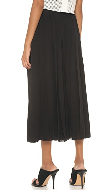 BLK DNM Silk Pleated Skirt