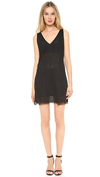 BLK DNM Mesh V Neck Dress