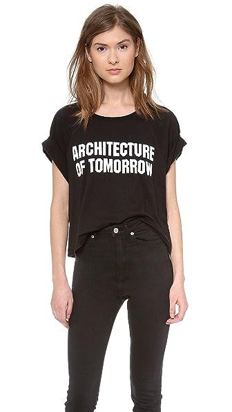 BLK DNM Print Cropped T-Shirt