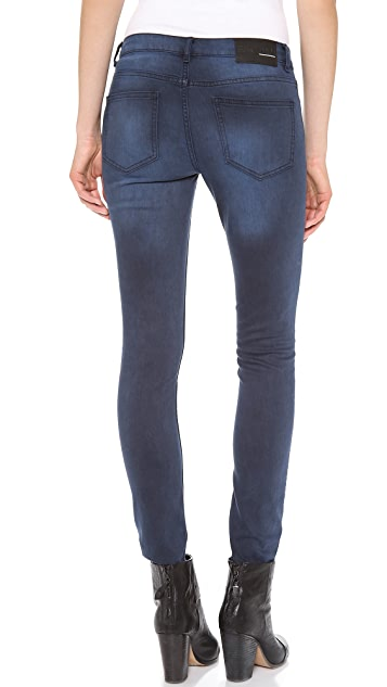 BLK DNM Low Rise Skinny Jeans