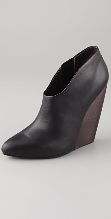 Blonde Ambition Allure High Wedge Booties