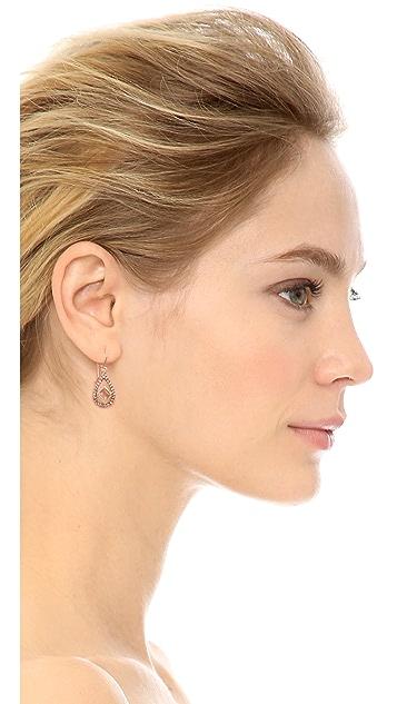 Blossom Box Pave Teardrop Quartz Earrings