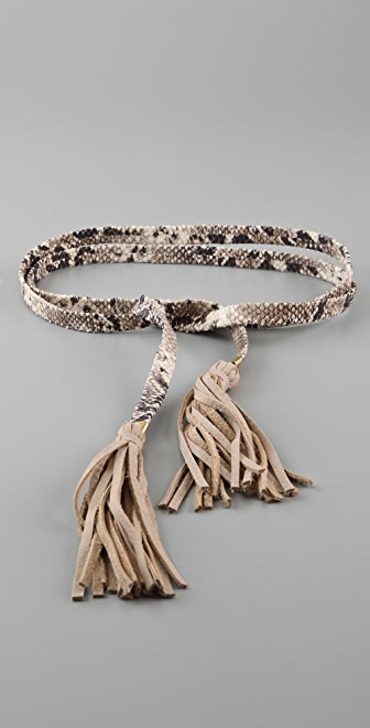 B-Low The Belt Boa Tassel Belt