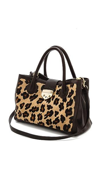 B-Low The Belt Hampton Leopard Satchel