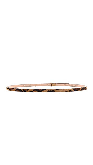 B-Low The Belt Skinny Cheetah Belt