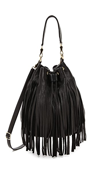 B-Low The Belt Weekender Fringe Bucket Bag