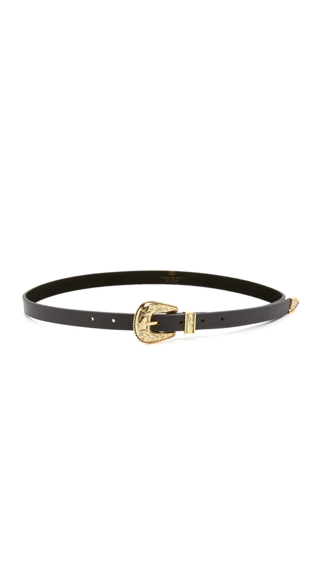 B-Low The Belt Baby Frank Belt - Black/Gold