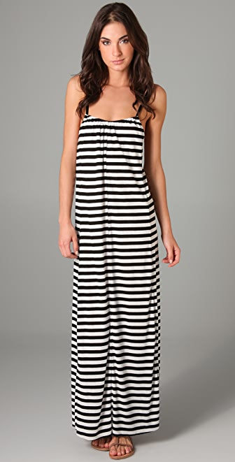 Blue Life Hipster Striped Long Dress