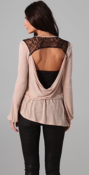 Blue Life Open Back Top