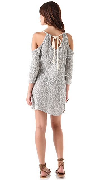 Blue Life Tunic Dress with Open Shoulders