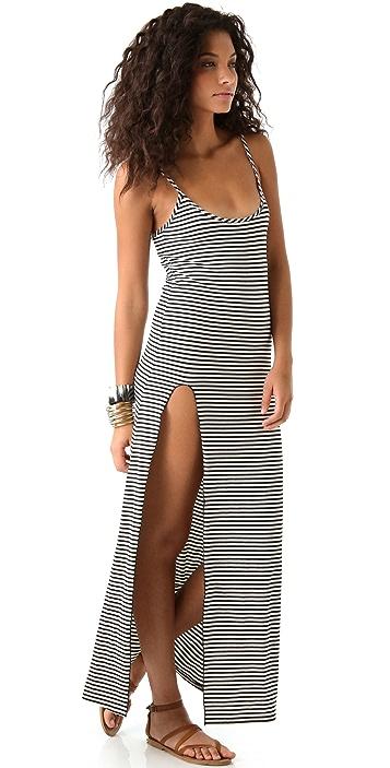Blue Life Tank Dress with Side Slit